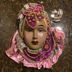 Gorgeous vintage Carnival porcelain mask